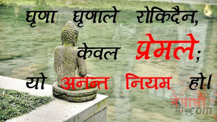 buddha quote in nepali