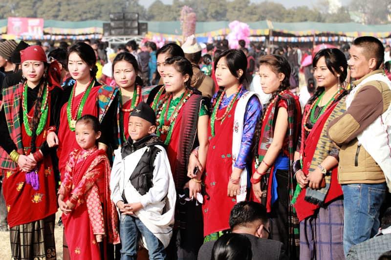 Tamu community Lhosar 2015